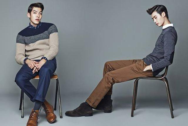 LEE JONG SEOK & KIM WOO BIN  IN SUITS FOR TRUGEN'S F/W 2013 ADS