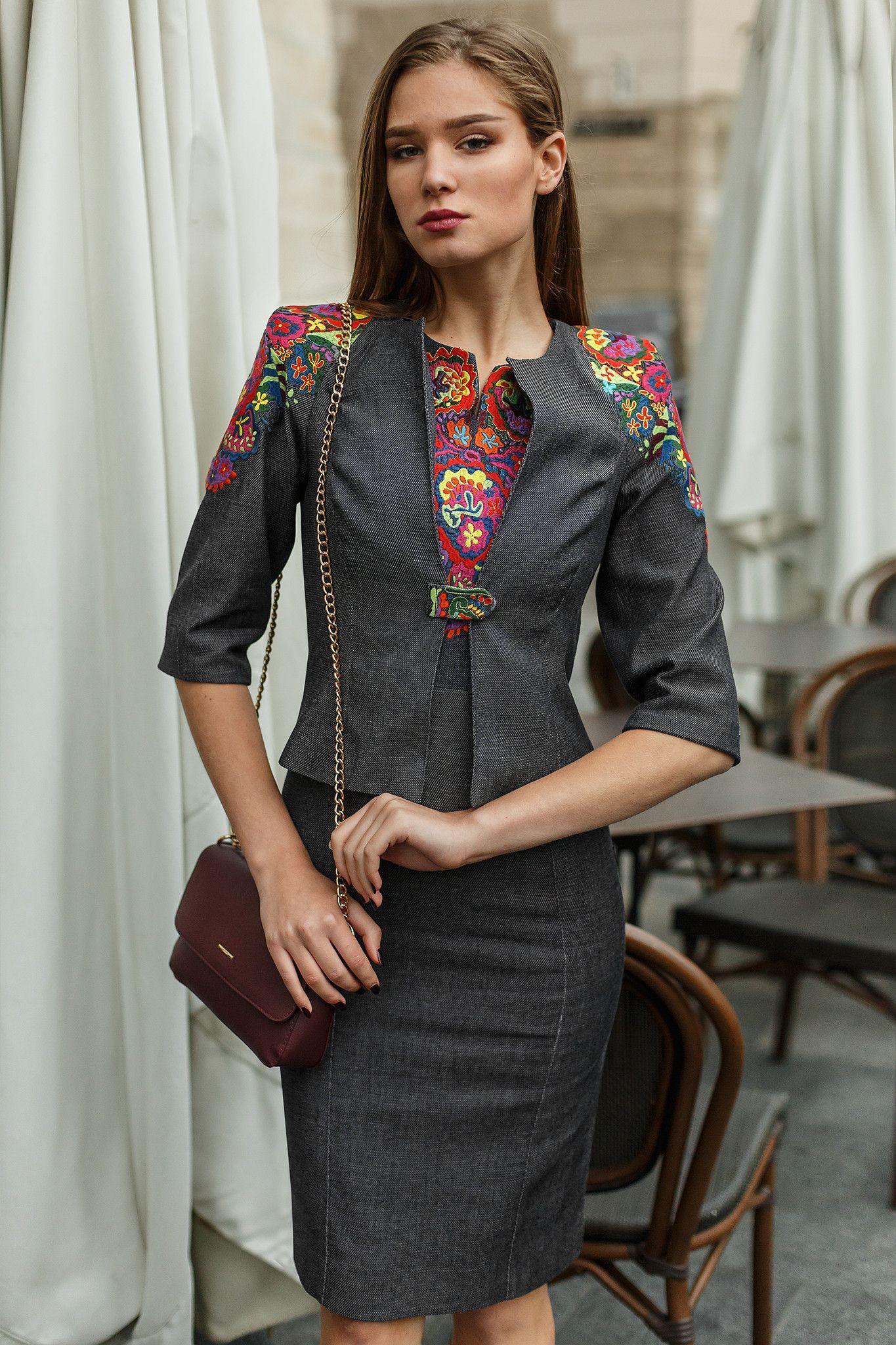 Modern embroidered dress set products pinterest dress set