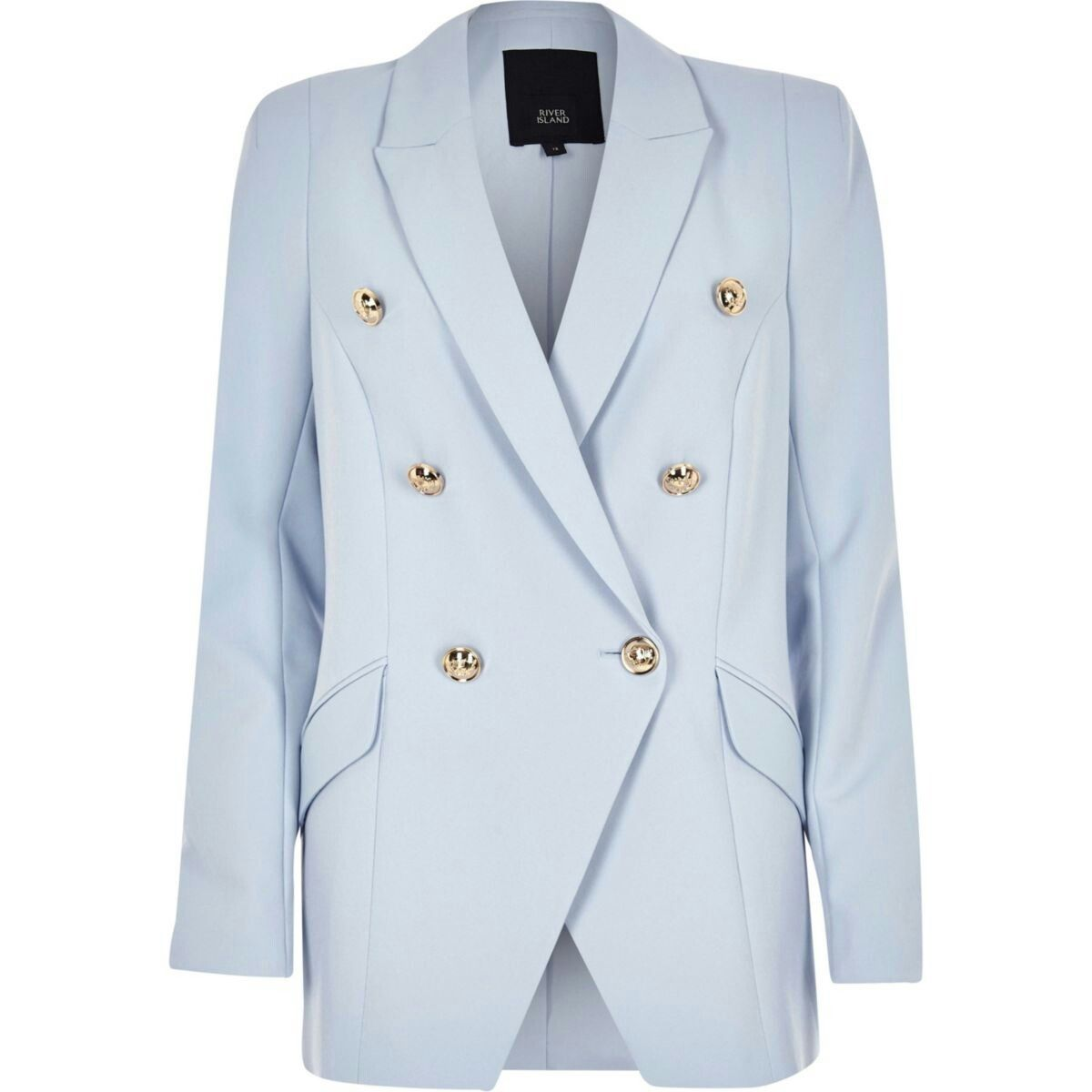 Light Blue Double Breasted Tux Jacket