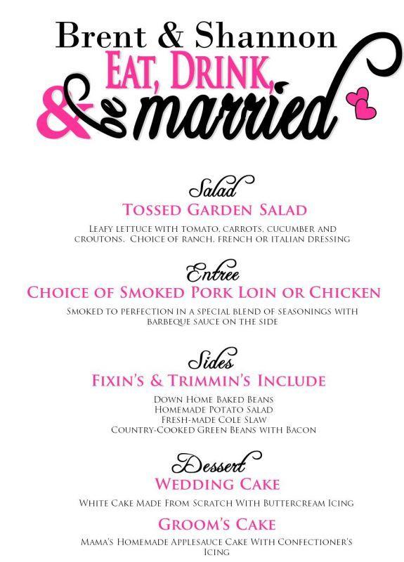 Dinner Menu future wedding Pinterest Dinner menu, Wedding - dinner menu
