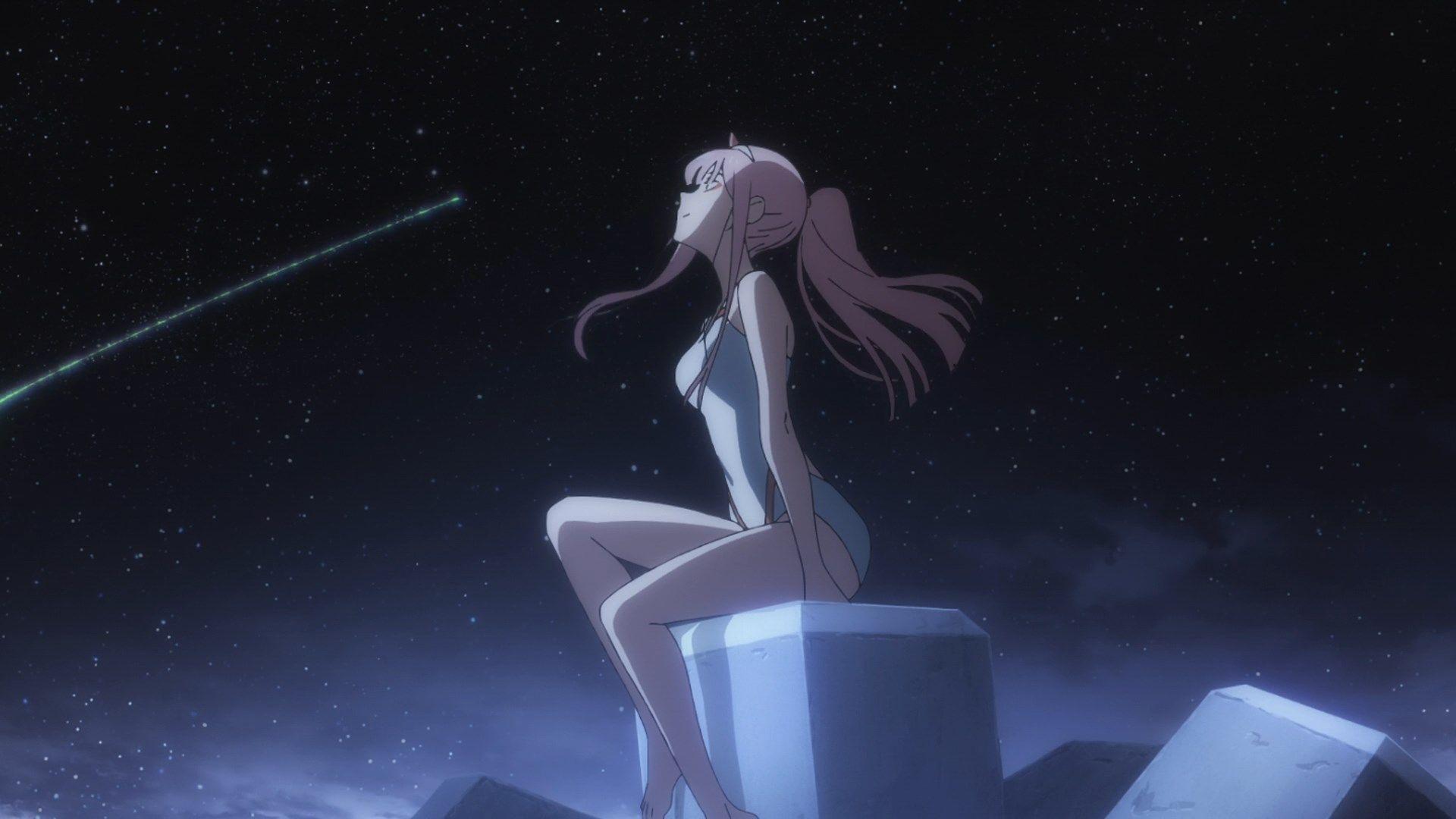 Zero Two Starry Sky Beach Darling In The Franxx Darling In The Franxx Wallpaper Pc Anime Zero Two