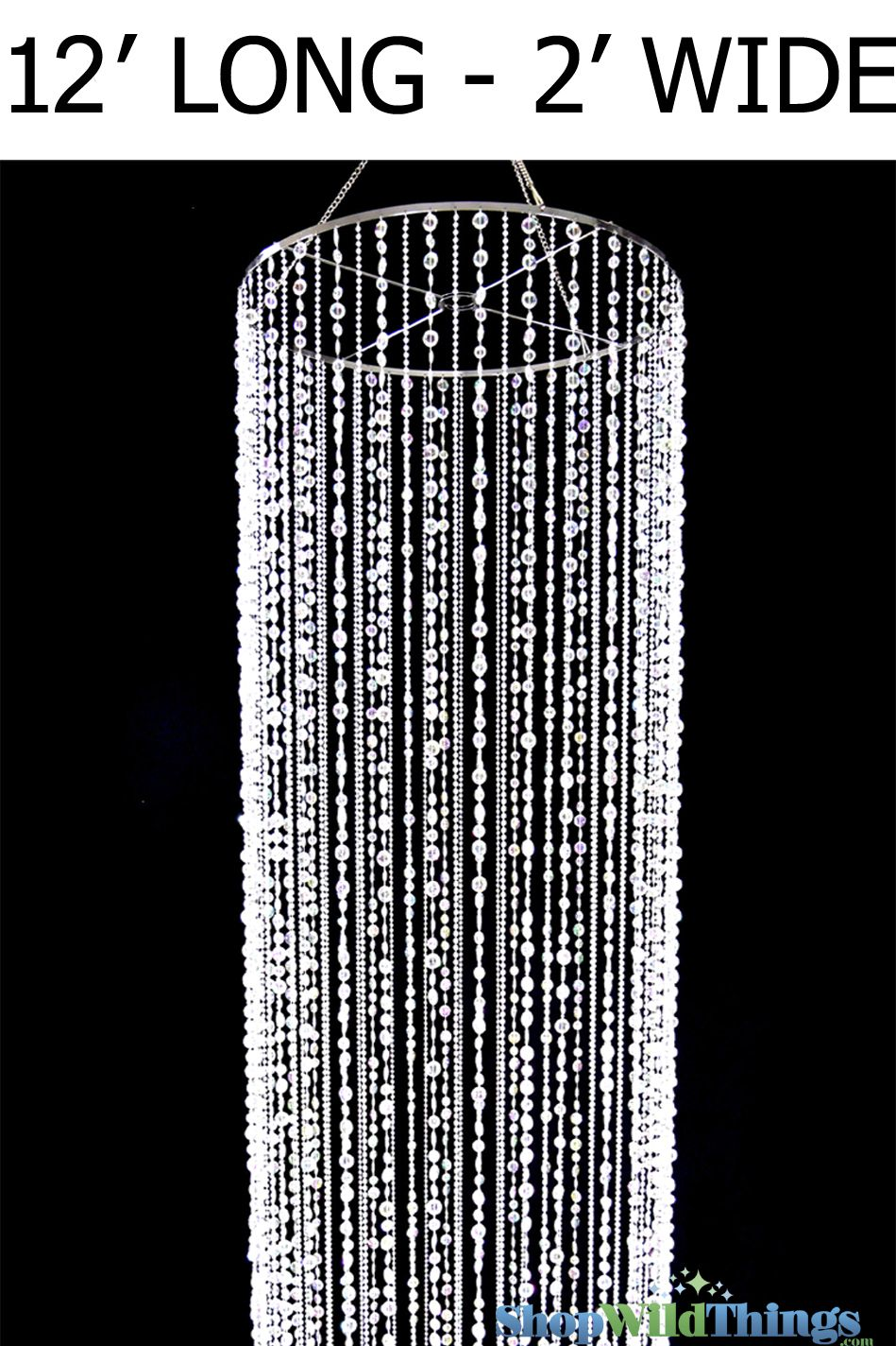 "Our new column ""Bliss"" is truly a magnificent work of art!  This majestic column consists of 64 gorgeous strands of 2 of our most popular crystal iridescent beads.  The high quality faceted beads and t"