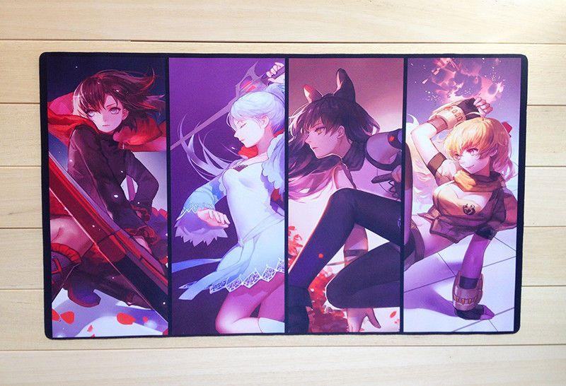 Details about a762 custom playmat rwby anime playmat