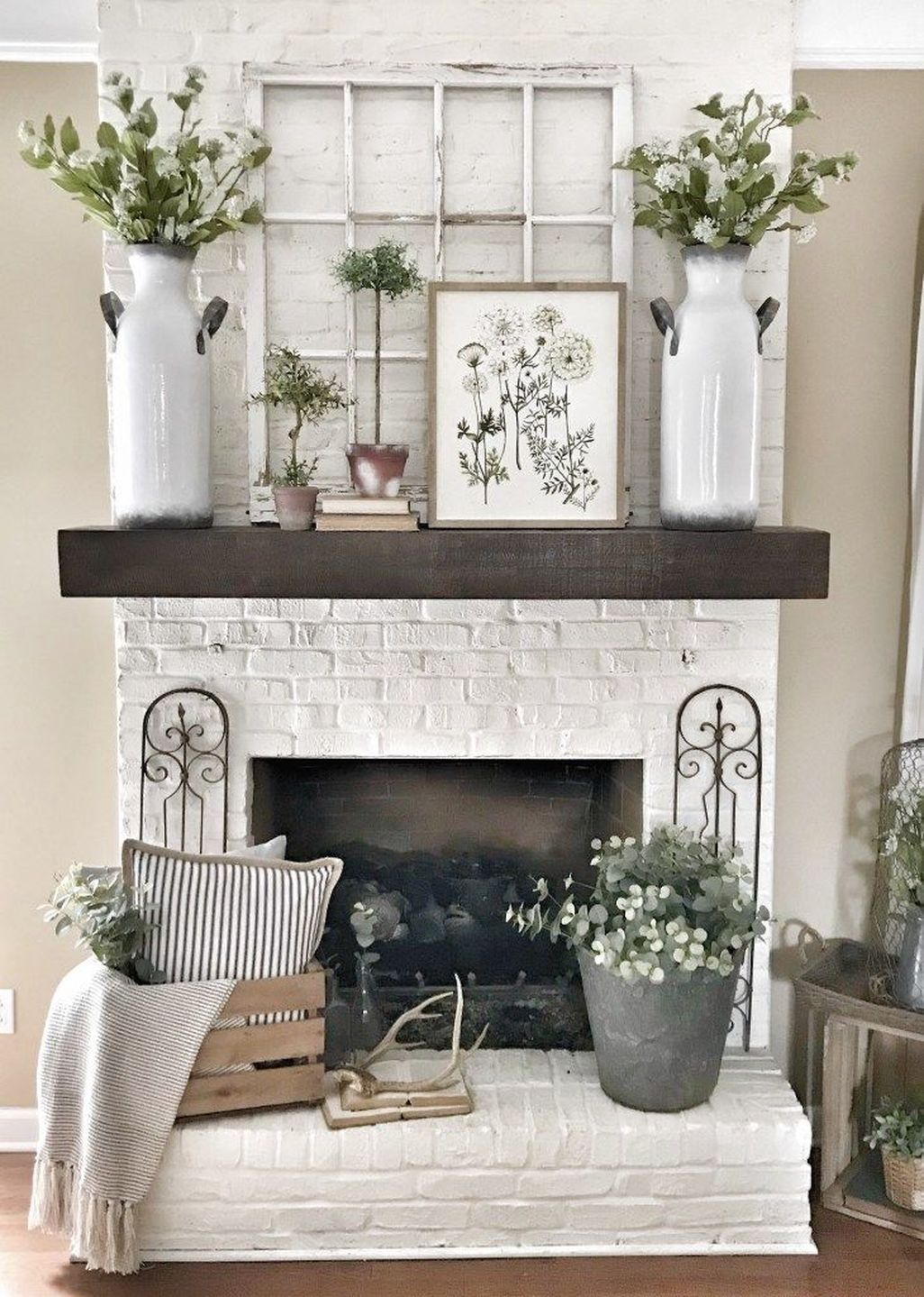 50 Simple Beauty Spring Mantel Decoration Ideas On A Budget ...