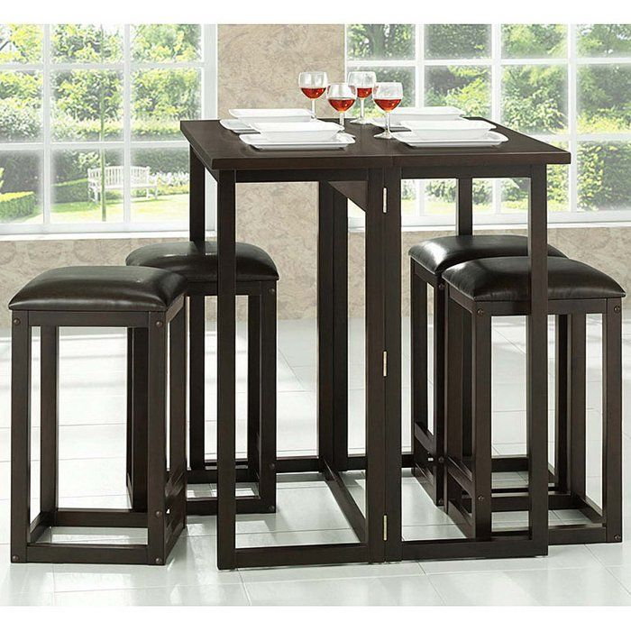 Baxton Studio Leeds Brown Wood Collapsible Pub Table Set The Smallest Of  Apartments Or Dining Spaces Will Use The Features