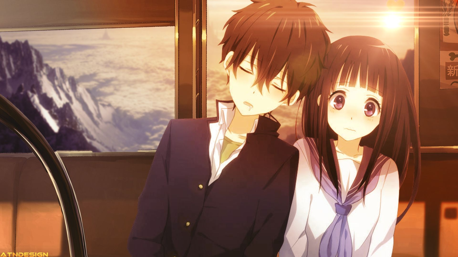 Cute anime couples wallpaper 1920x1080 75207