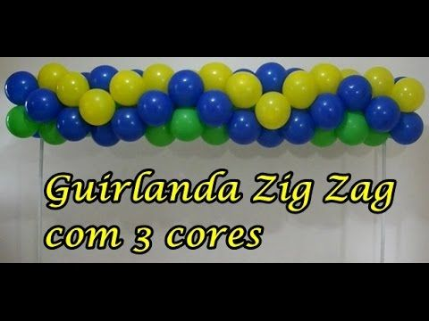 Arco De Baloes Zig Zag Guirlanda Tema Pequeno Principe Youtube