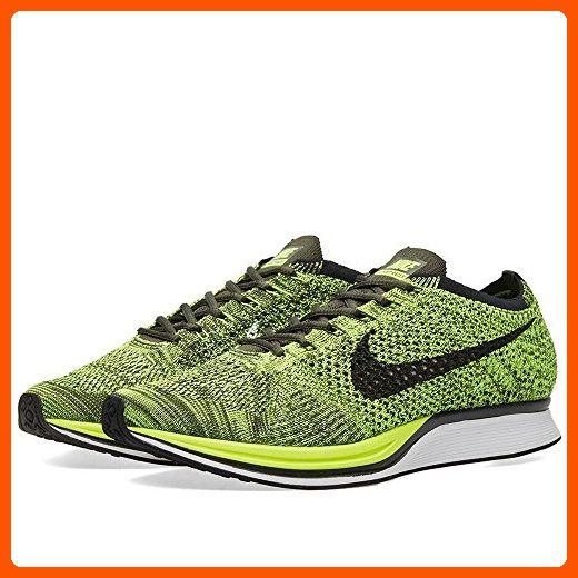 Nike Flyknit Racer Mens Sneaker (11 D(M) US, Volt/Black