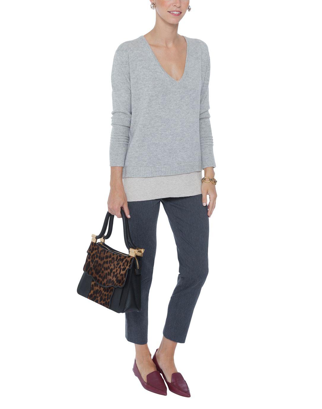 V-Neck Double Layer Tunic Sweater | M.Patmos | Halsbrook ...