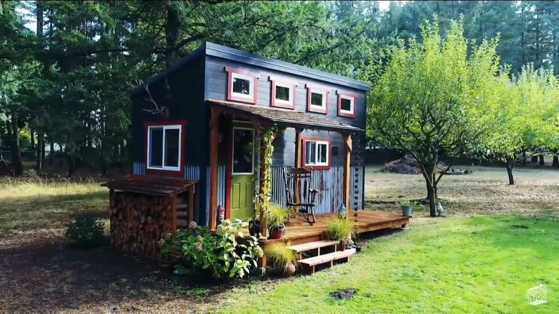 Tiny House With Shed Style Roof And Deck Tiny Homes