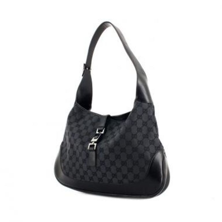 a274be2bbde GUCCI Monogram GG Jackie O Black Gucci Jackie  112134-This is a guaranteed  authentic
