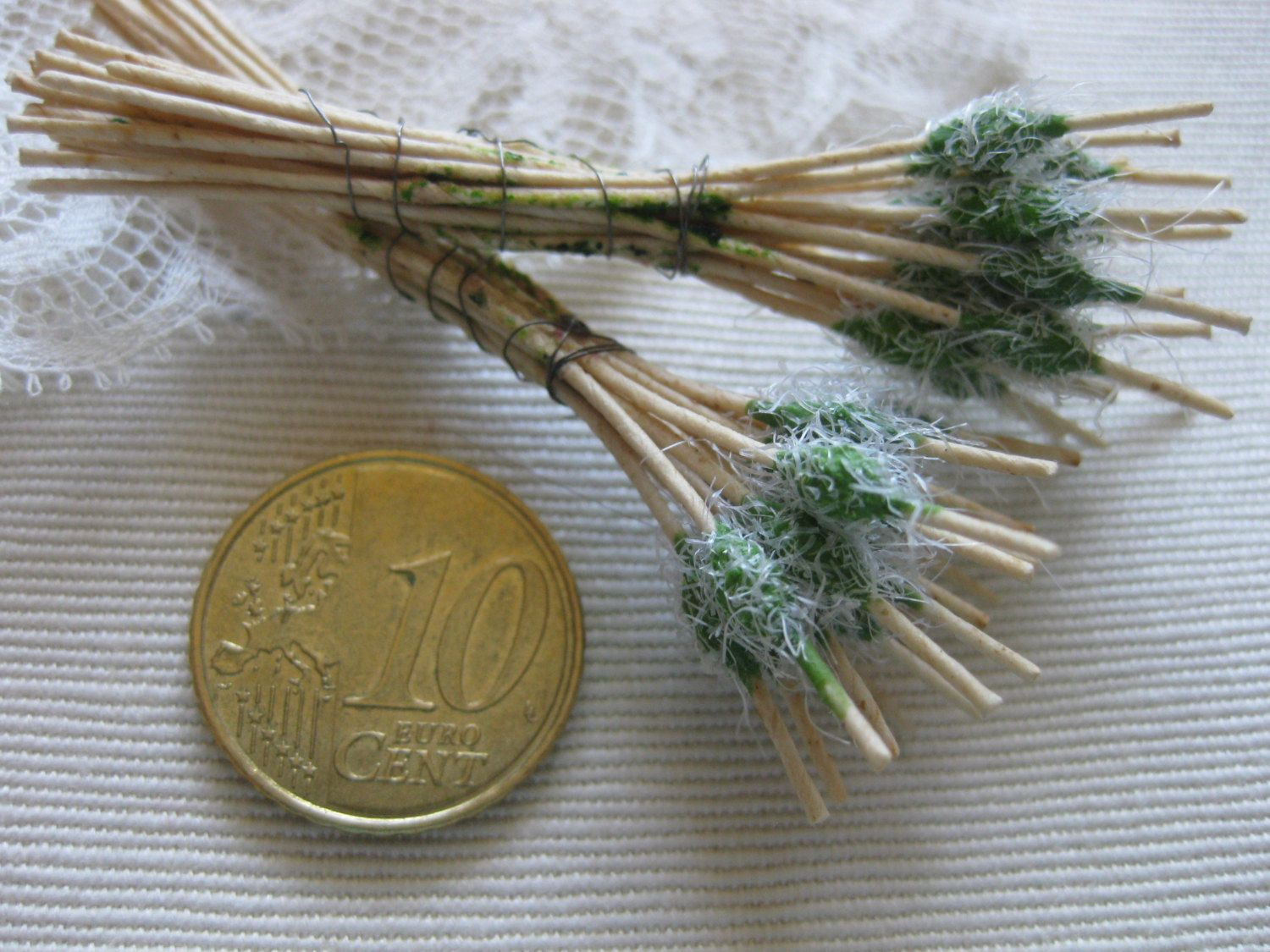 Vintage Millinery Stamens Hat Making Floristry Basketry Supply Hand Made French Silk Flowers Ribbon Doll Making Miniatures Craft 18Ps by MillineryJewellery on Etsy