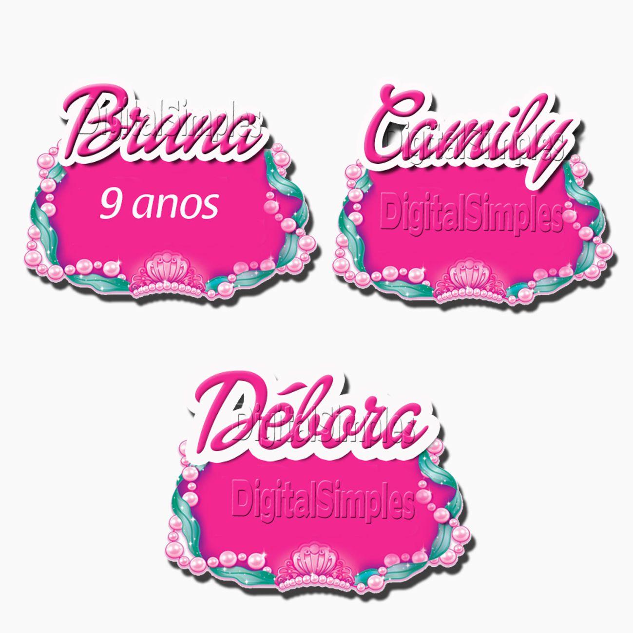 Kit Personalizado Tema Barbie Sereia Das Perolas Convites Digitais Simples Barbie Sereia Barbie Decoracao Festa Barbie
