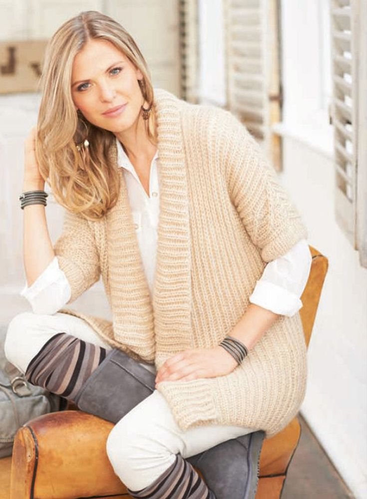 Snuggly knitted waistcoat in Schoeller & Stahl - pattern on ...