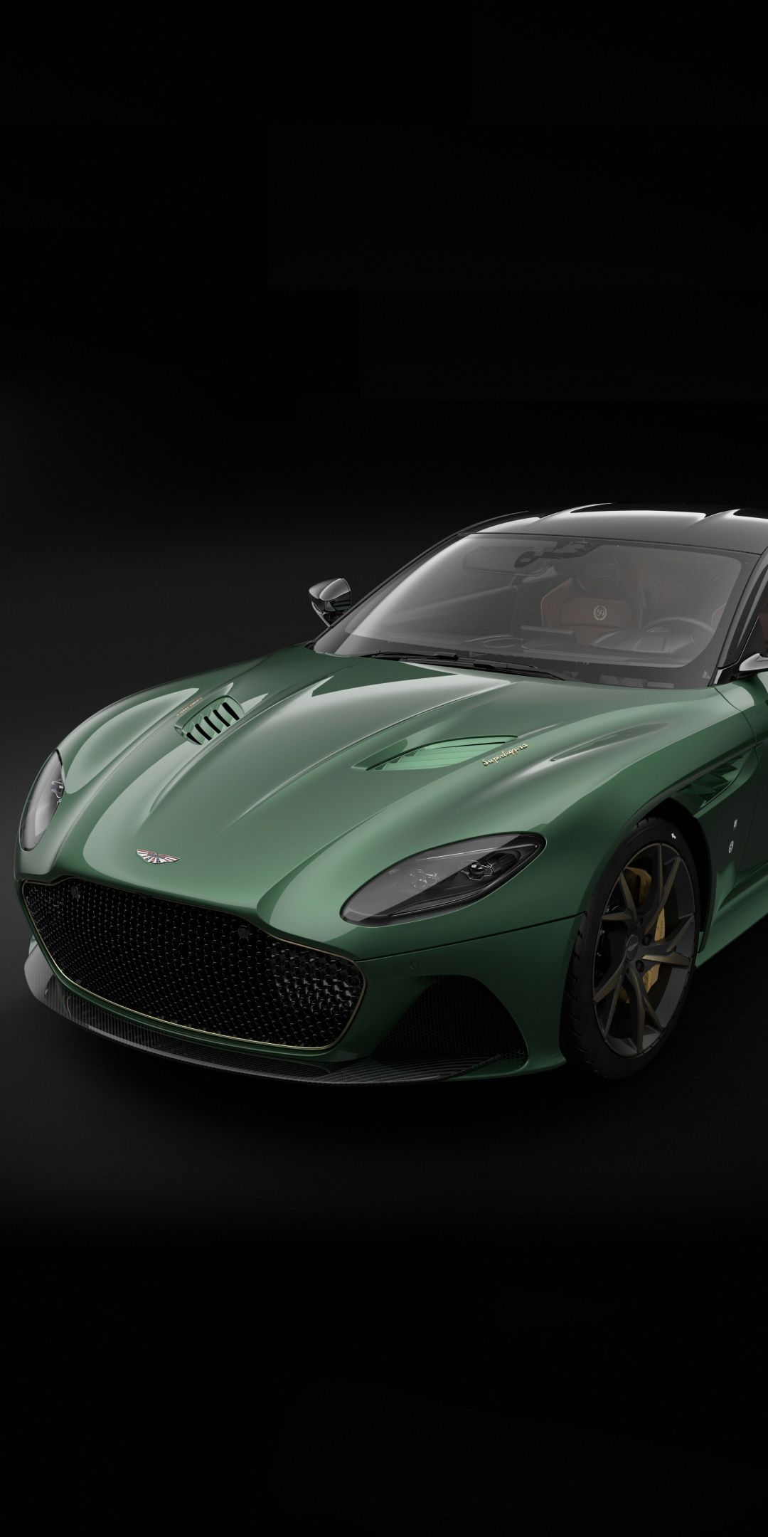 Green Aston Martin Dbs Portrait 1080x2160 Wallpaper Cars