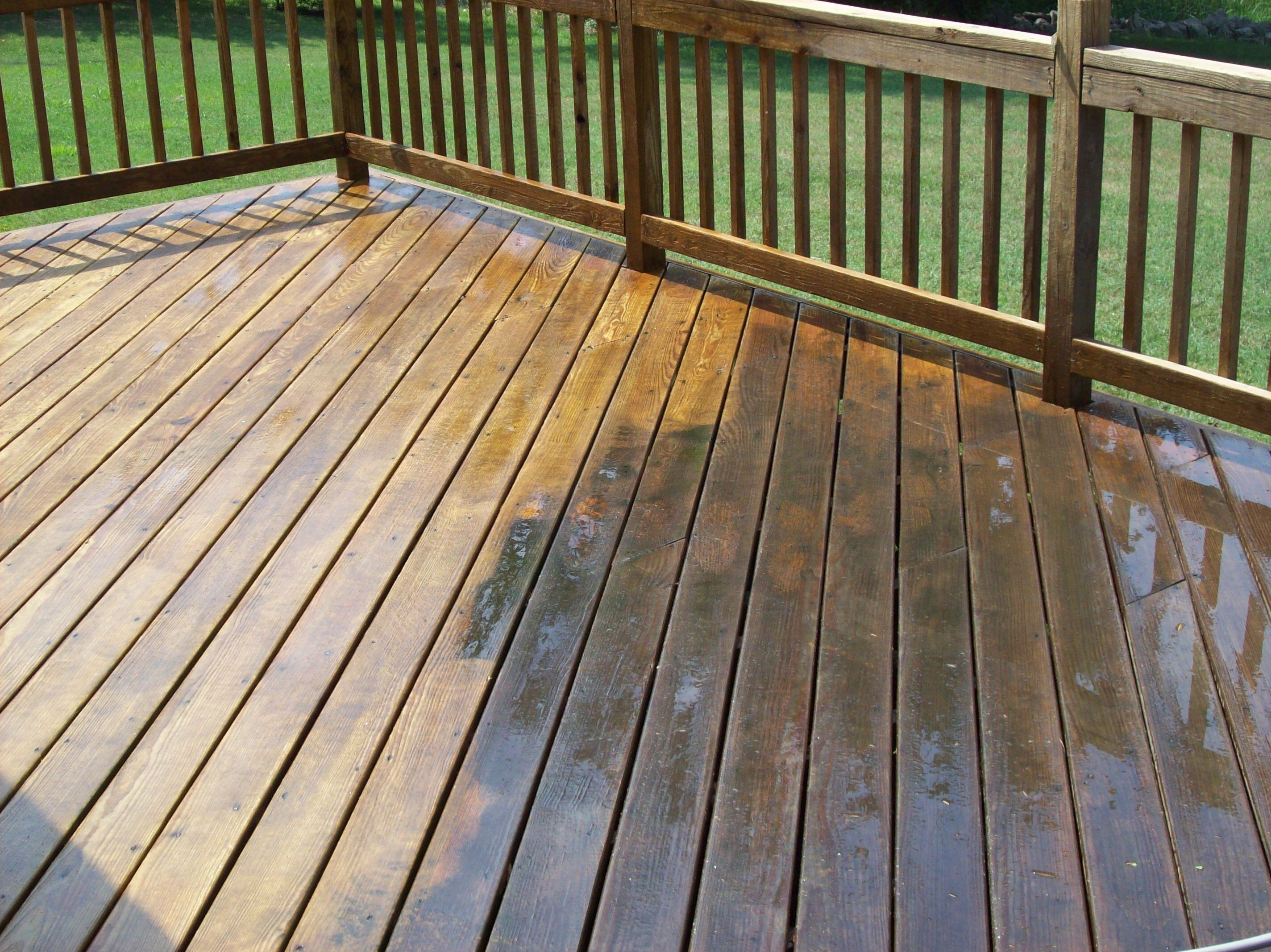 Deck Cleaning To Give The New Look Againg By Waterworx