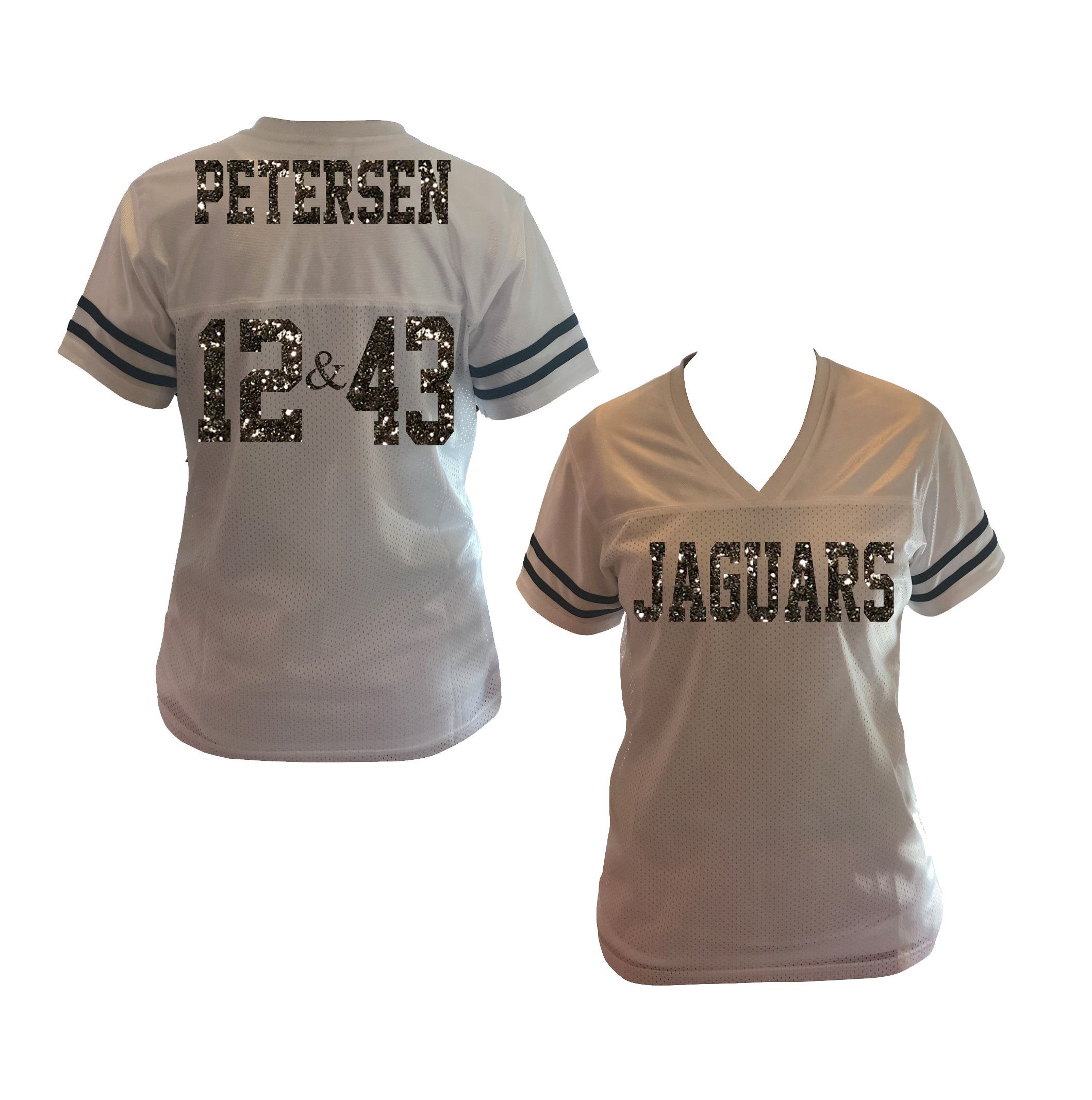 0bafeb3212071 Glitter Two Number Jersey Shirt for Mom & Ladies, Bling Football ...