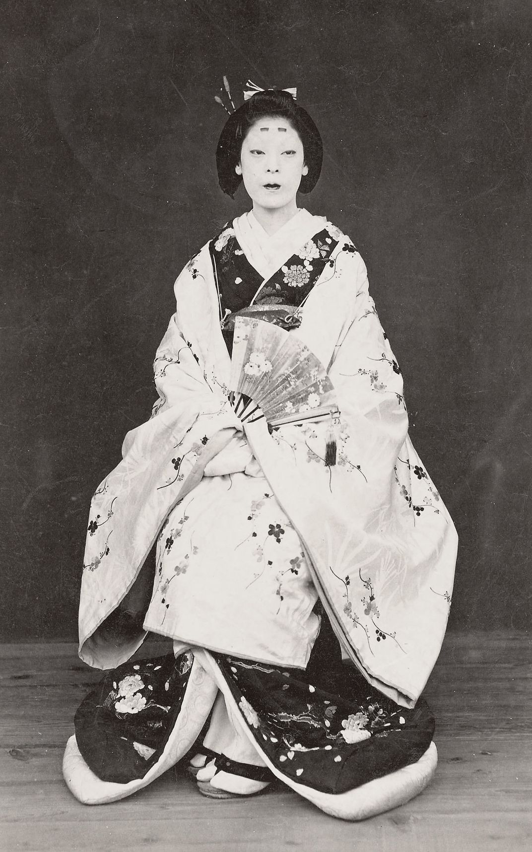 Woman In Formal Kimono. 1870 Japan. Smithsonian