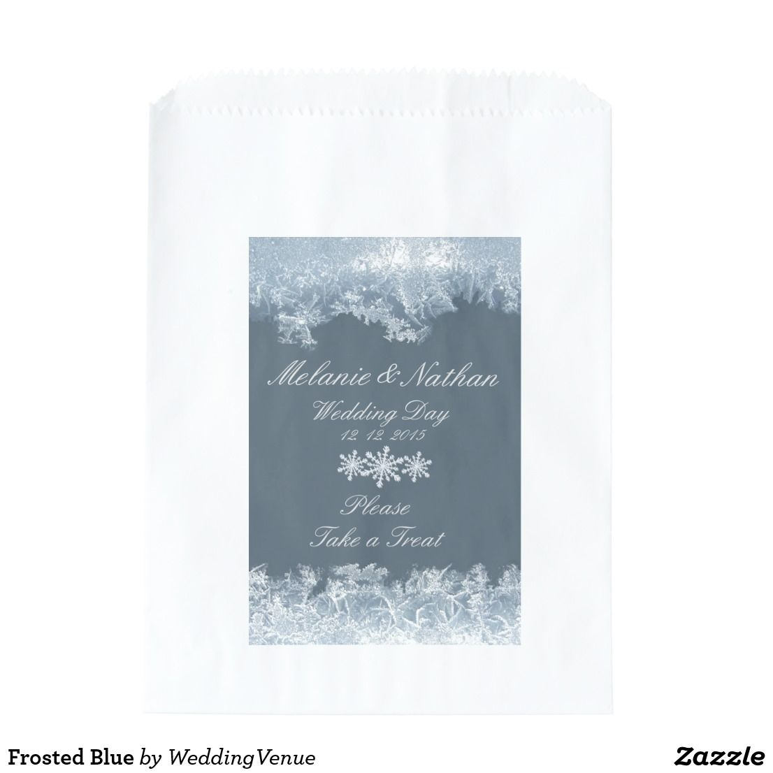 Frosted Blue Favor Bag | Blue winter weddings, Winter wedding favors ...