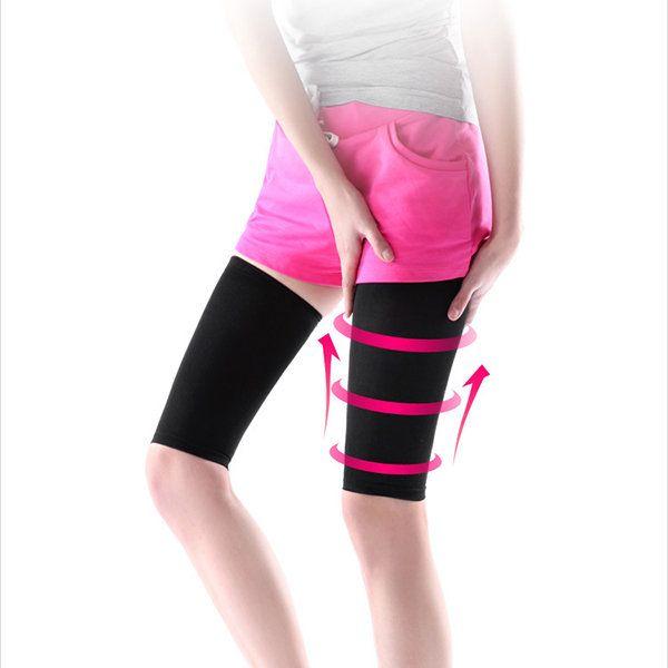 Elastic Breathable Leg Slimming Compression Socks Burn Fat Thigh Slim Massage Shaper