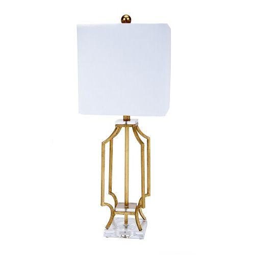 Design Chic - Elise Gold Metal Lamp, $238.00 (http://www.shopdesignchic.com/elise-gold-metal-lamp/)