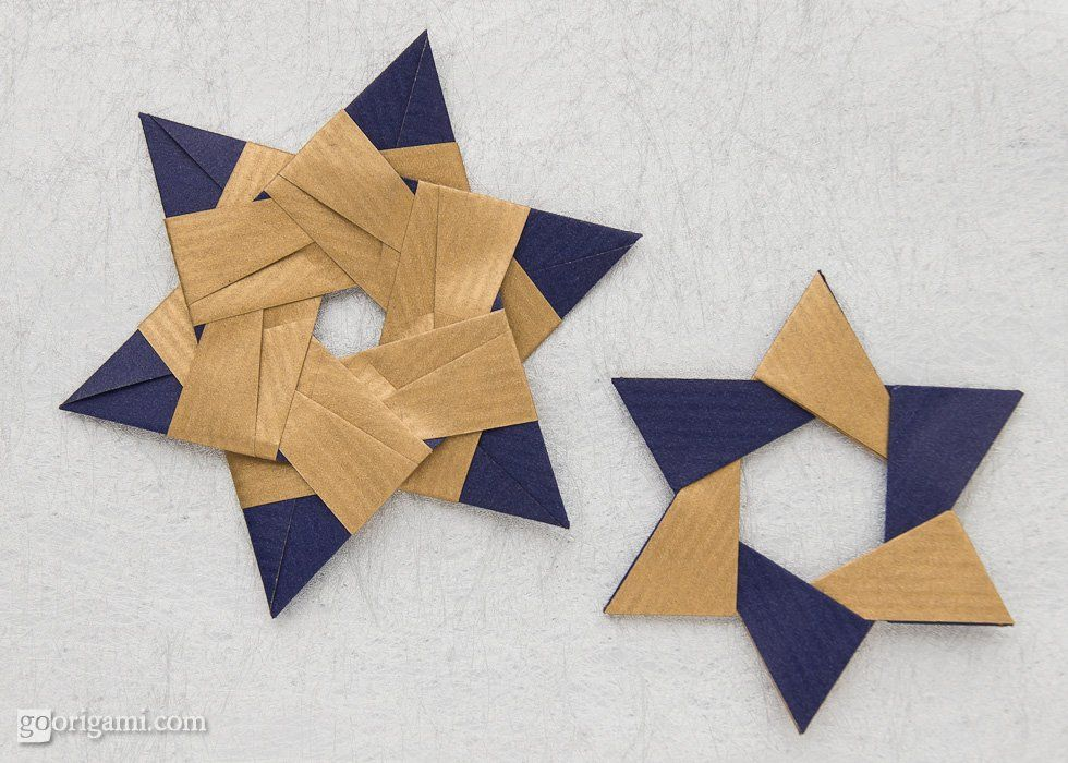 Origami bambini ~ Two different designs of modular origami stars by maria sinayskaya
