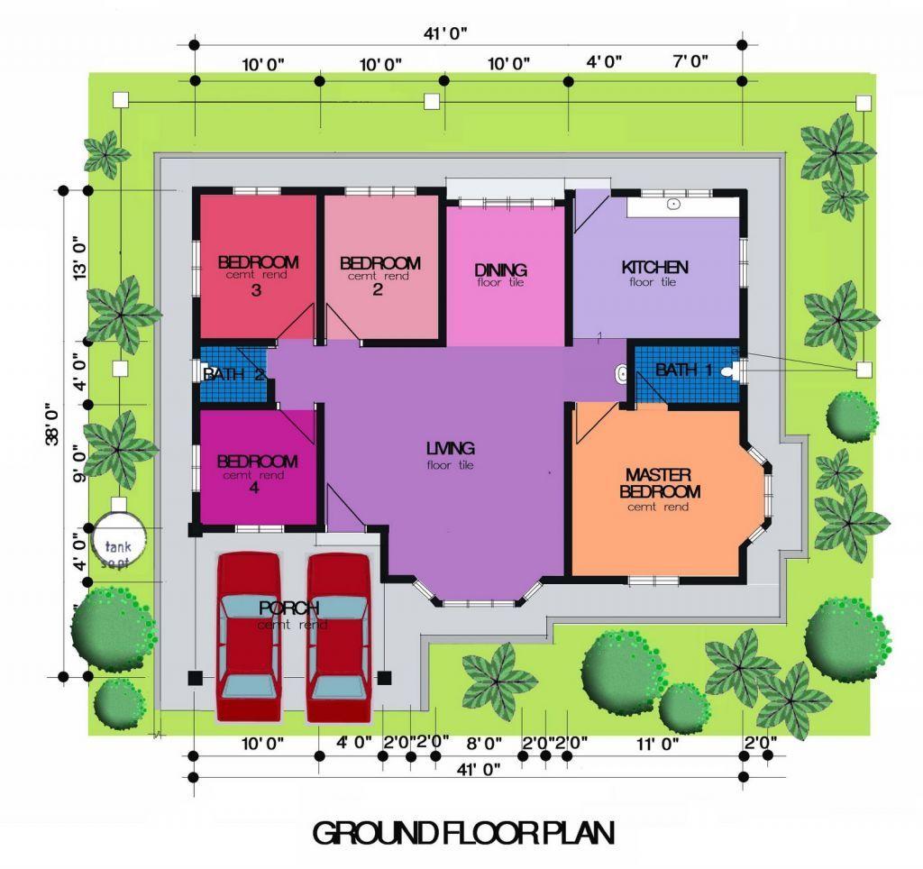 Desain Plan Rumah Modern 5 Bilik Desain Rumah Kecil Desain Rumah Rumah Modern