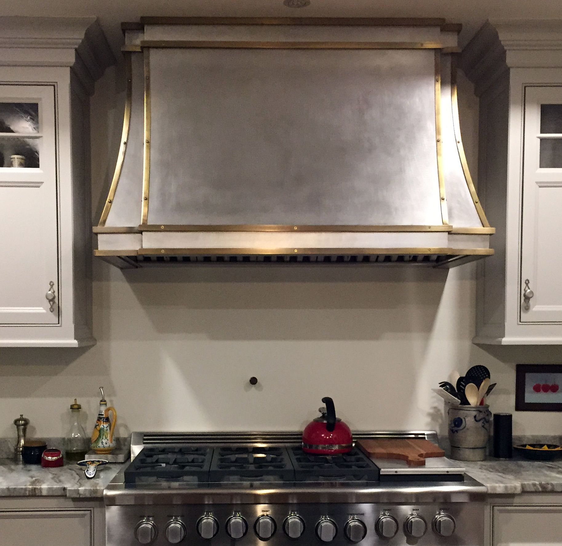Range Hood Kitchen Custom Made Brass And Stainless Range Hood Kitchen Pinterest