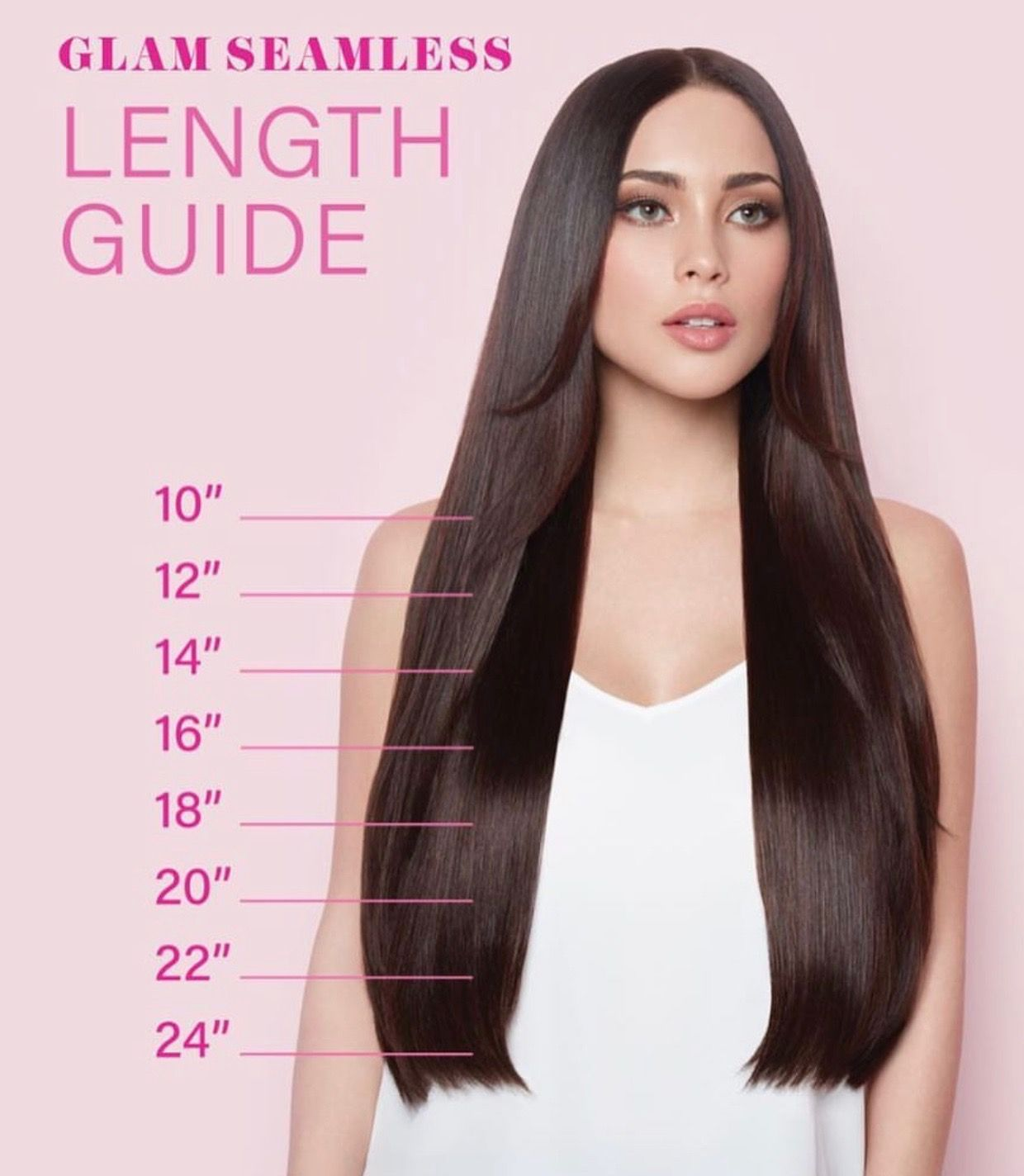 Glam Seamless Hair Extension Length Guide 2017 Hair Extension