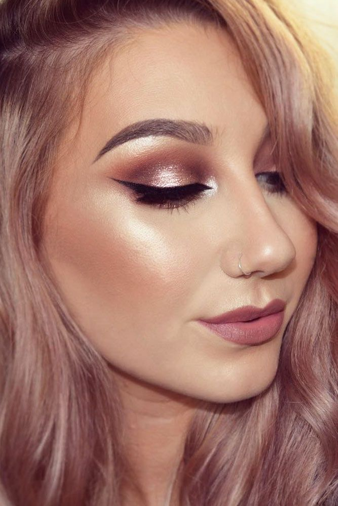 53e877902 Charming Rose Gold Makeup Looks from Day to Night ☆ See more: http:/