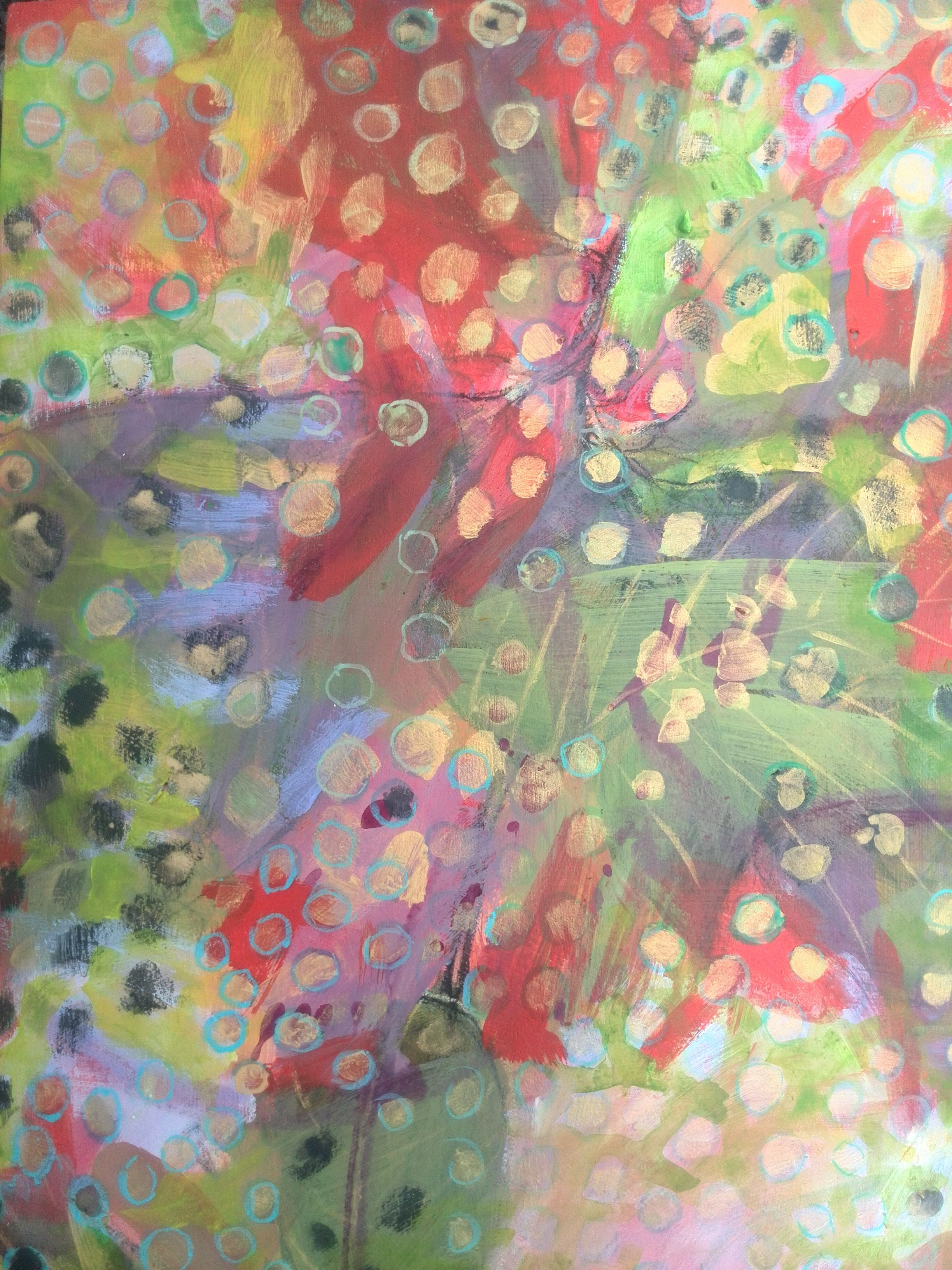 My Latest Abstract Paintings Inspired By The Badamier Trees In Mauritius Acrylic