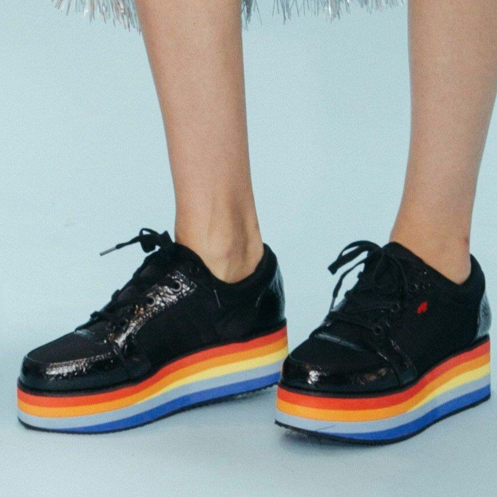 Reagle Rainbow Platform Sneaker
