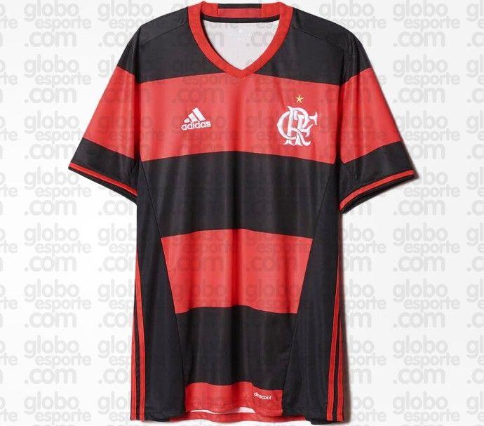 6ef6c613aafd4 O Flamengo voltará a ter listras rubro-negras grossas em seu novo uniforme  neste ano