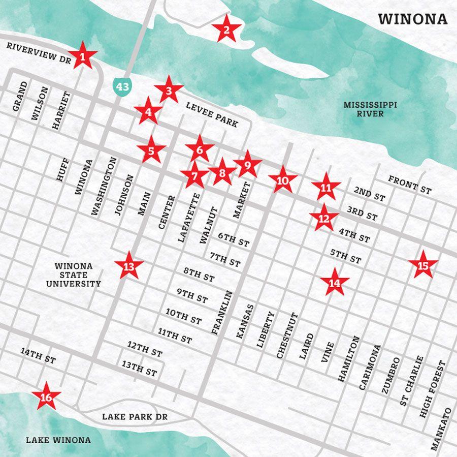 Winter In Winona Map Of Winona Mn Mnmo Travel Pinterest
