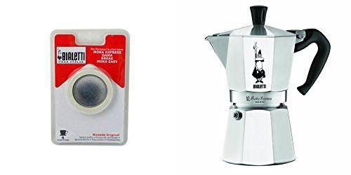 Bialetti 6800 Moka Express 6-Cup Stovetop Espresso Maker w/Replacement Gasket and Filter for 6 Cup #espressomaker