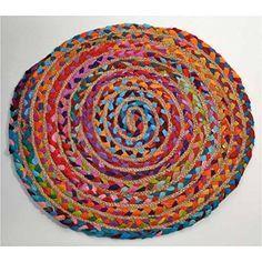 zen *ethic-alfombra redonda, yute, 60 cm-jute, yute, color único, 60