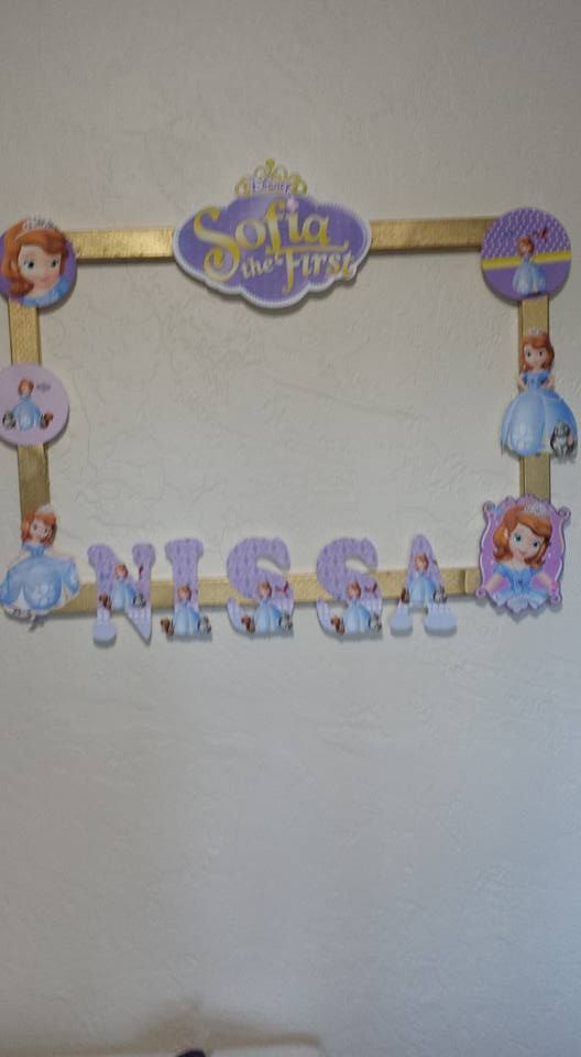 Sofia the First Selfie Frame | Party on a Budget Centerpieces ...