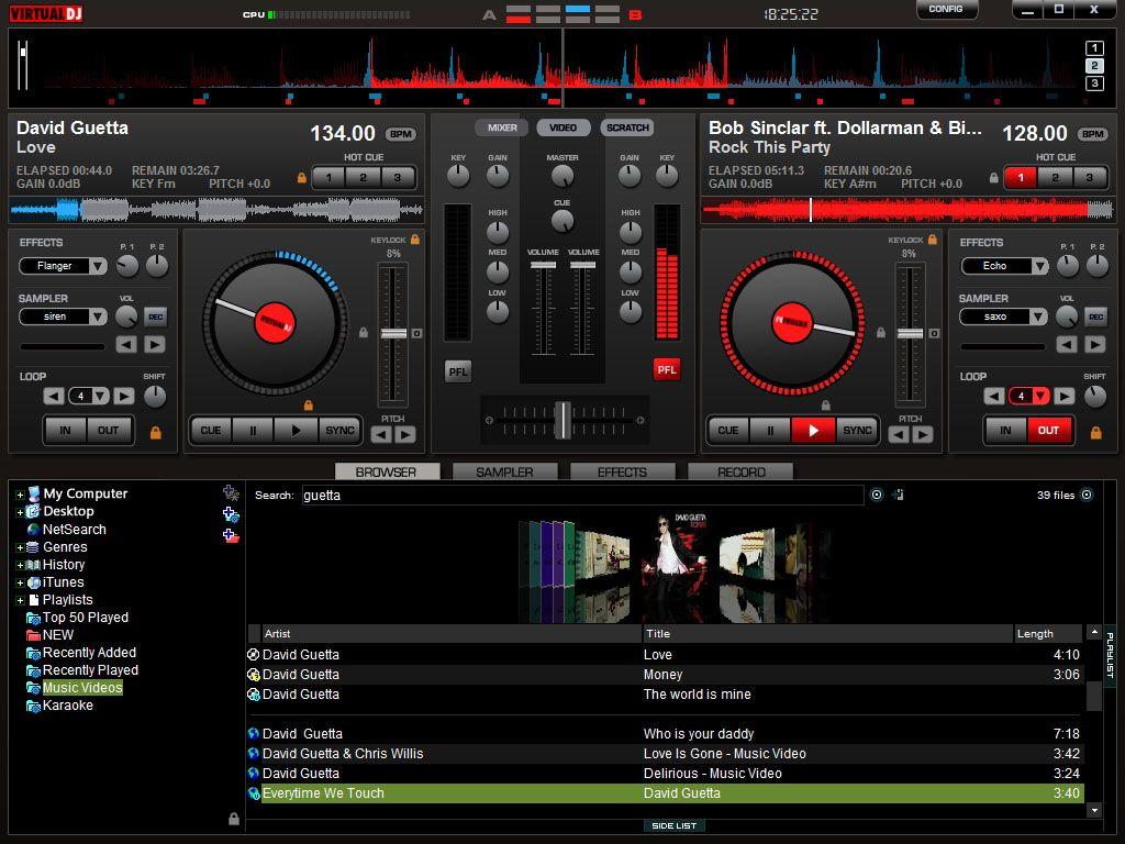 Virtual Dj Software Screenshots Music Mixer Dj Download Dj