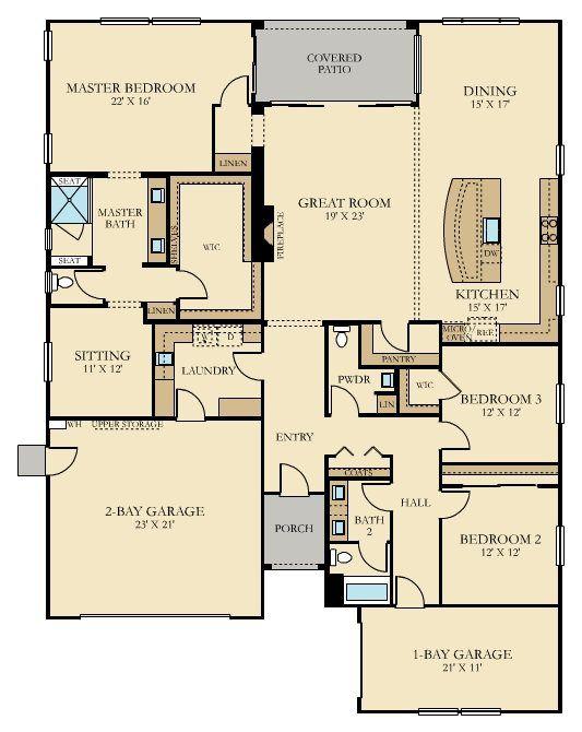 The Vanderbilt Plan 2756 New Home Plan In Heritage El Dorado Hills Estates New House Plans Small House Plans Dream House Plans