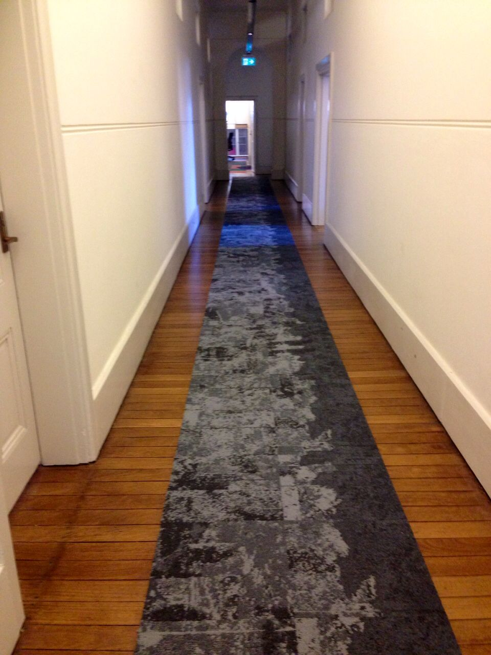 Net Effects in our Sydney Office Corridor Commercial Carpet Tiles, Hotel Corridor, South Beach