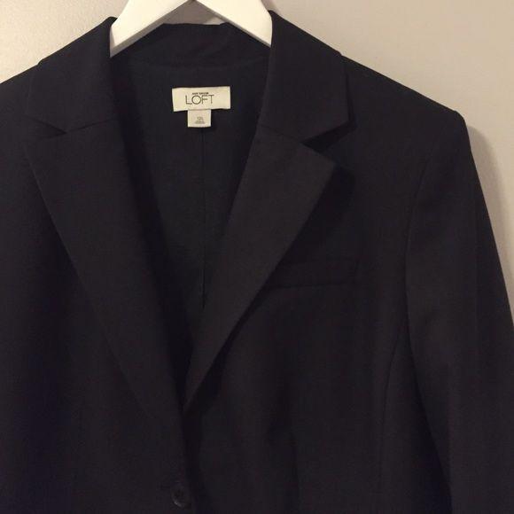 LOFT Black Blazer (Long) Beautiful, classic black blazer from Ann Taylor LOFT. Size is a 12 Long. (Longer length sleeves) LOFT Jackets & Coats Blazers