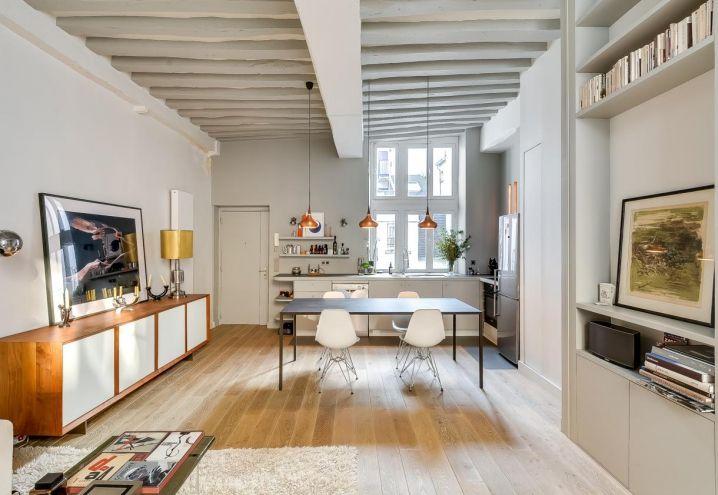 Consolle Soggiorno ~ Consolle custom made di tatiana nicol nel soggiorno open space del