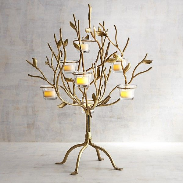 Pier 1 Imports Metal Tree Tealight Candle Holder ($90) ❤ liked on