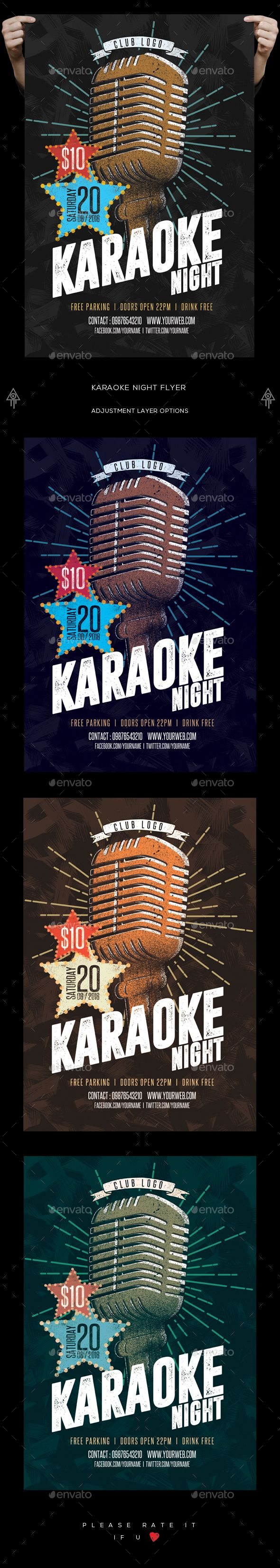 Karaoke Night Flyer  Karaoke Psd Templates And Flyer Template