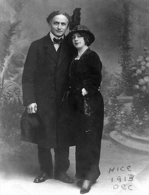 Harry Houdini & his wife Bess