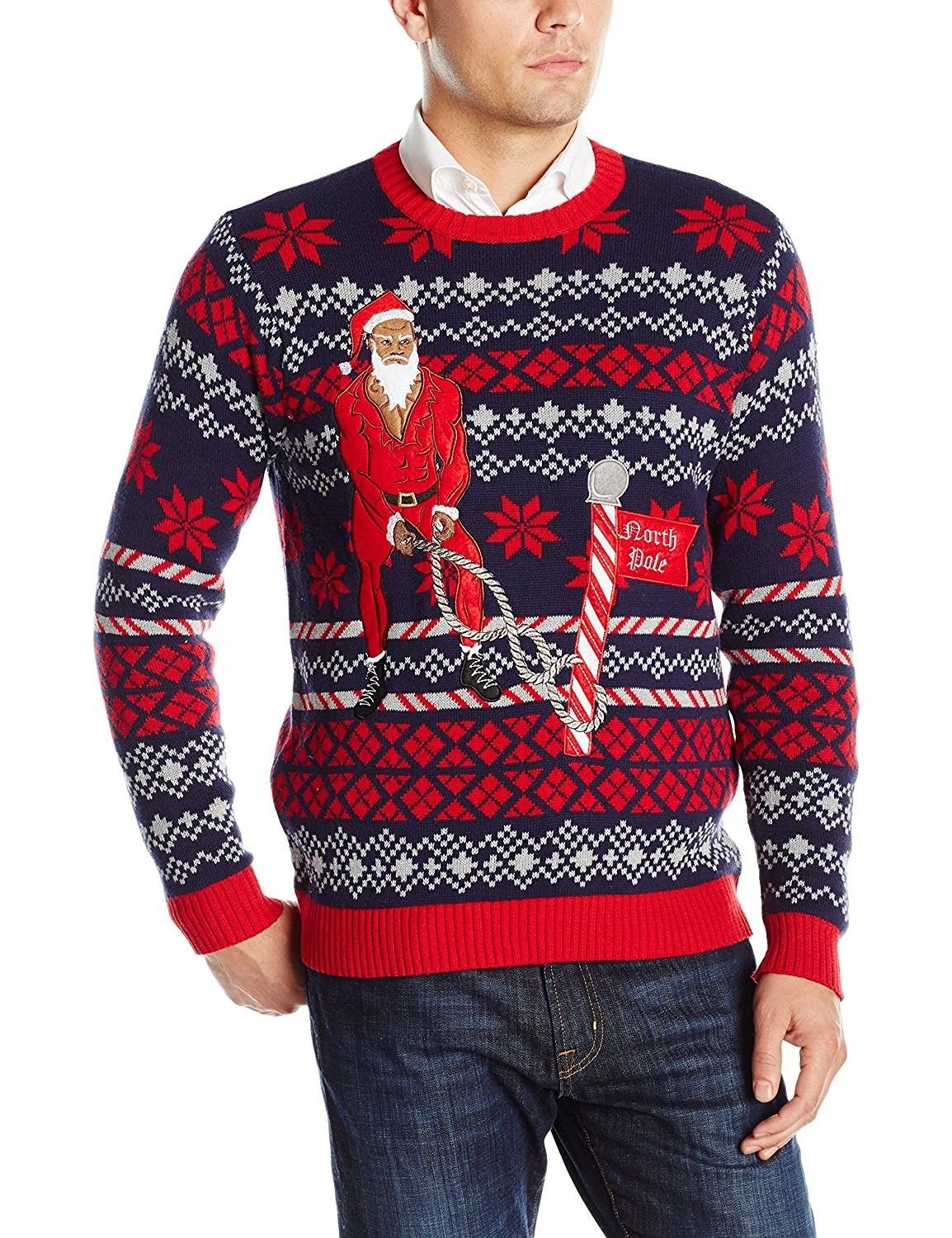 Mens Clothing Sweaters Pulloversmens Battle Ropes Santa Ugly