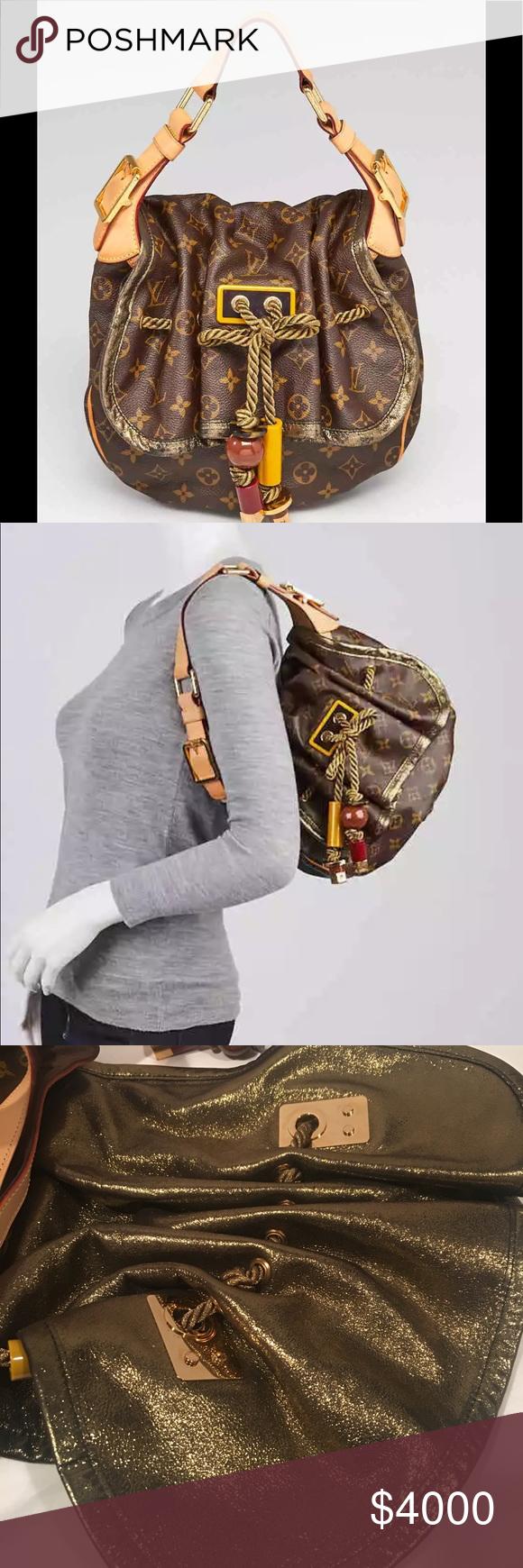 e77c6fb02483 Louis Vuitton GM Kalahari Monogram handbag NEW STUNNING LOUIS VUITTON  MONOGRAM CANVAS WITH GOLD HARDWARE LARGE