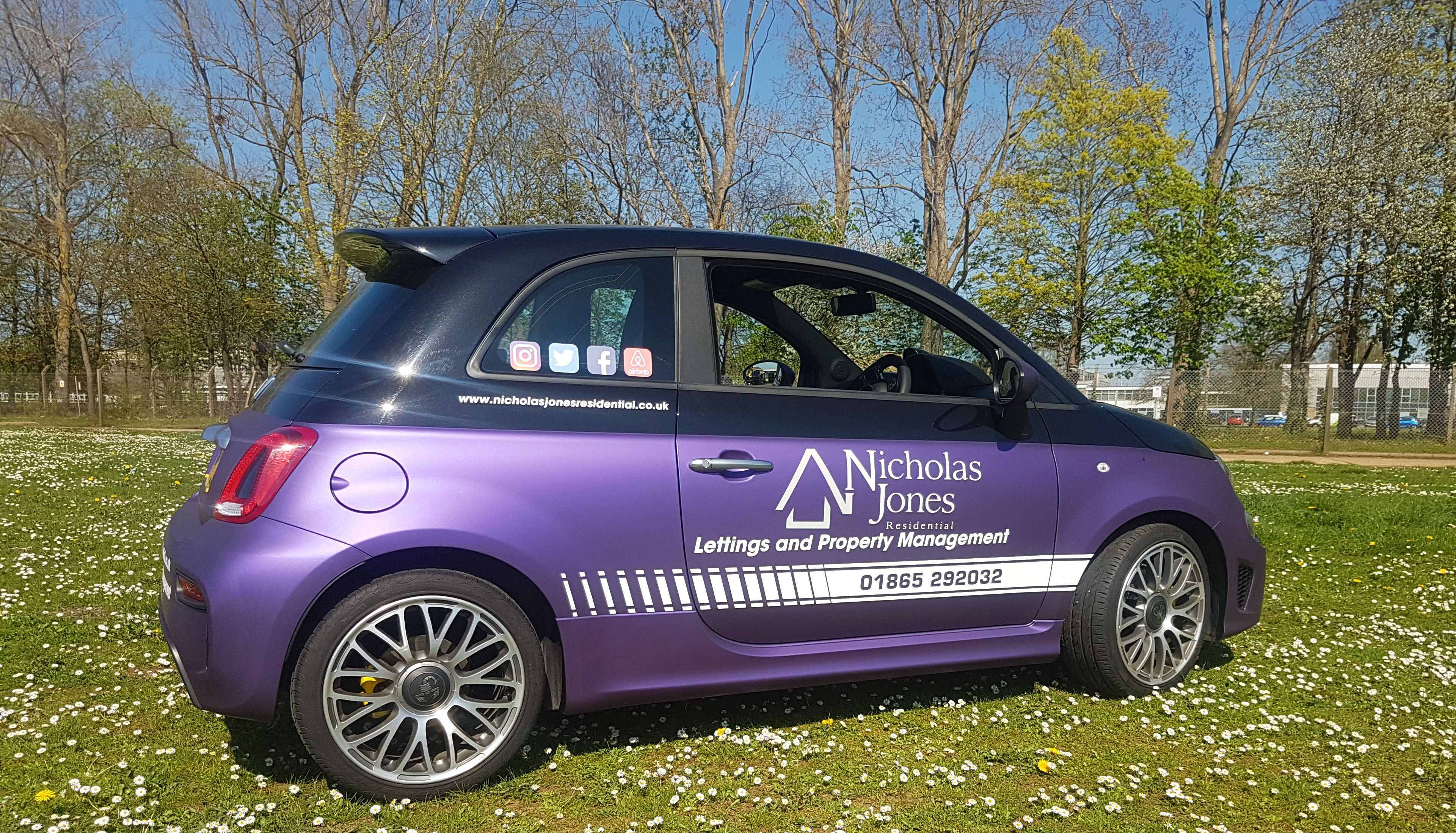 9de484ded0 Partial vinyl car wrap for Nicholas Jones Residential estate agents in  Oxford. Giving their company car a fresh new look.
