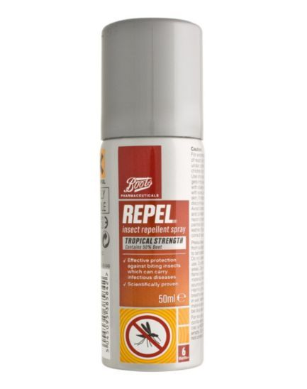 Boots Pharmaceuticals Repel Insect Repellent Spray Tropical