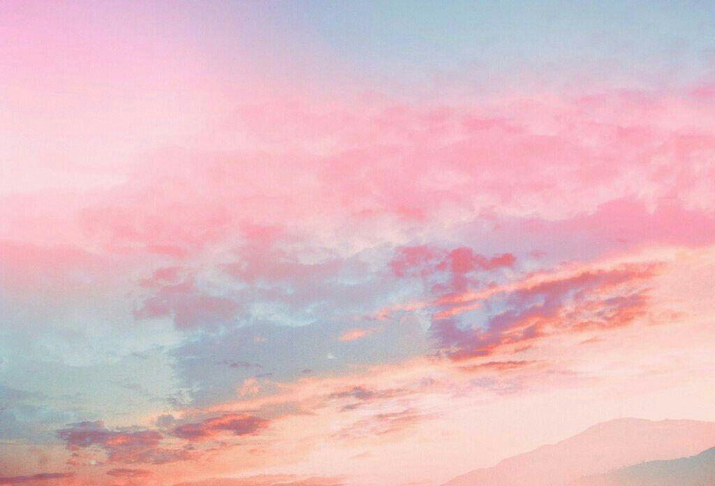 Epingle Par Yes I Want There Life And I W Sur Aesthetic Fond Ecran Rose Ciel Pastel Papier Peint Pastel